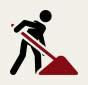 Urnen, der skal bestå af et materiale der er let forgængeligt, bliver nedgravet i mindst 1 meters dybde.